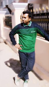 Green Sweater with color-coordinated shoes